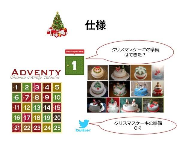 チーム分担  • デザイン (naoさん)  • マークアップ (たけいさん)  • JQuery (yamatoさん)  – フォト蔵のAPIをコールする  • API&Conoha (bohebohe)  – Adventカレンダーから毎日...