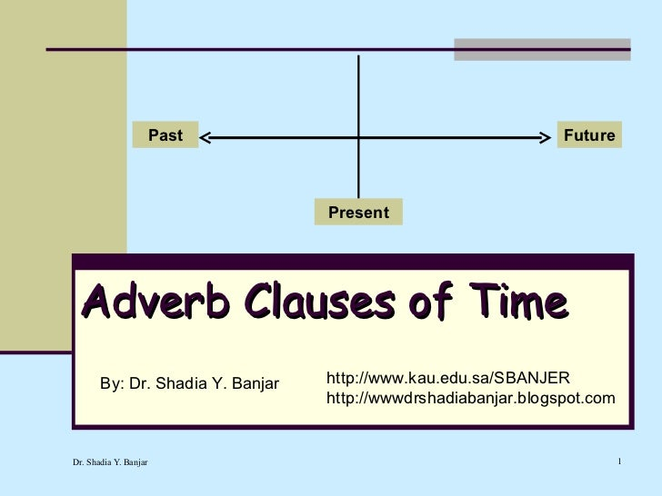 Adverb Clauses Of Time By Dr Shadia