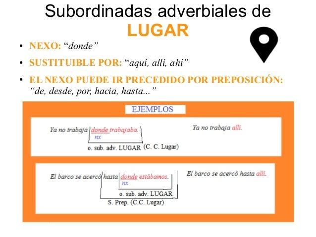 10 Ejemplos De Oraciones Subordinadas Adverbiales De Lugar Sitios Online Para Adultos En Navarra