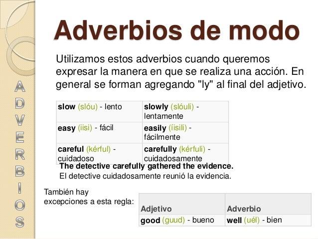 Conhecido Adverbios del inglés WL39