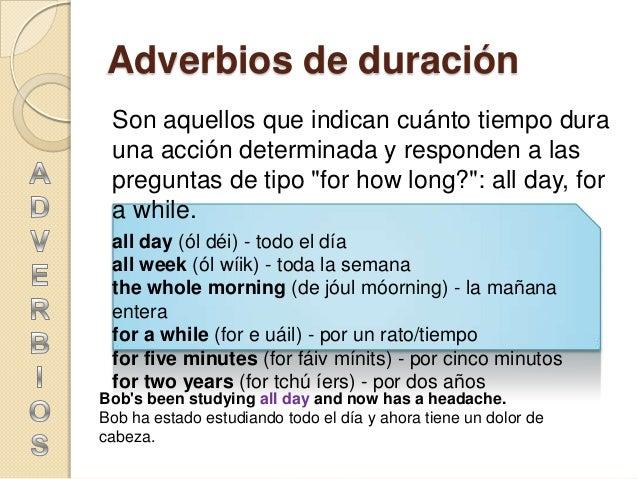 Fabuloso Adverbios del inglés DG65