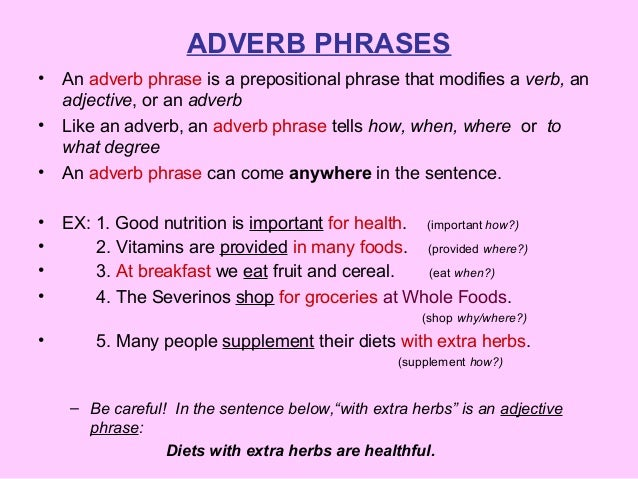 Adverb phrases