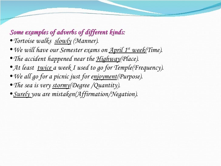 Some Examples Adverbs Choice Image Example Cover Letter For Resume