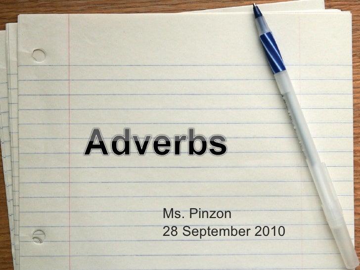 Ms. Pinzon 28 September 2010