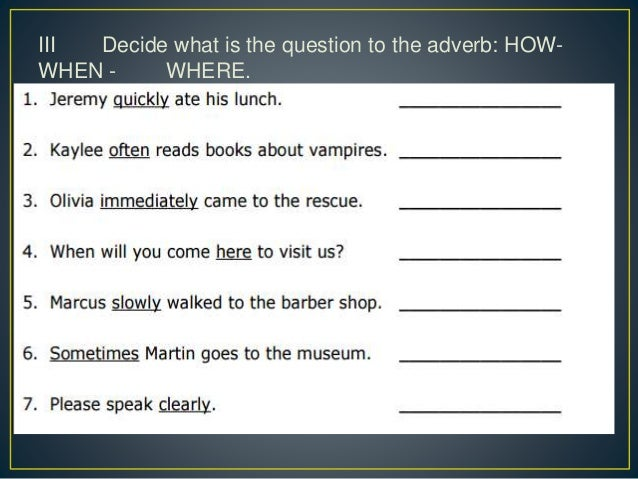 Adverbs exercises (1)