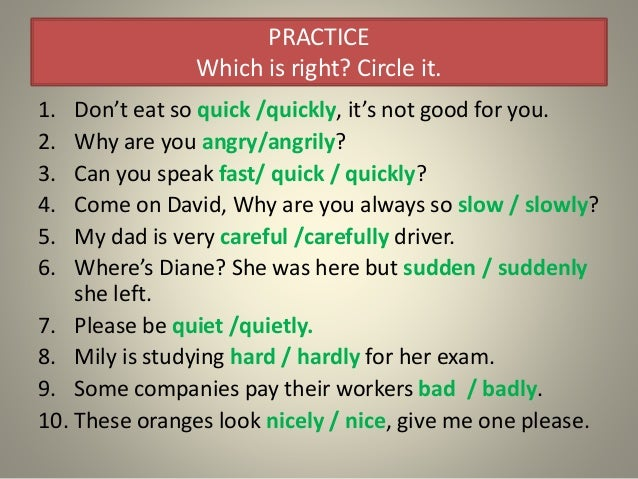 Adverbs Of Manner Ppp 2014