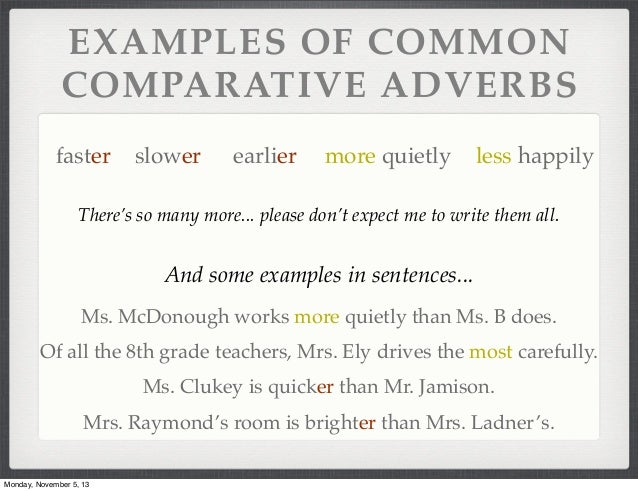 Example of Adverb Word...