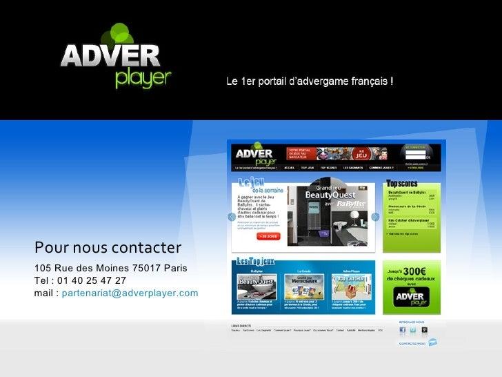 Adverplayer - 1er portail d'Advergames français