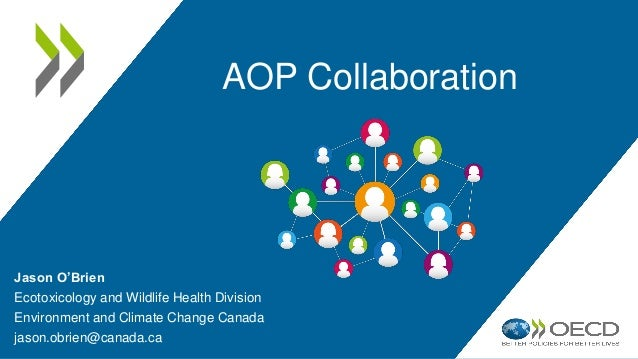 AOP Collaboration Jason O'Brien Ecotoxicology and Wildlife Health Division Environment and Climate Change Canada jason.obr...