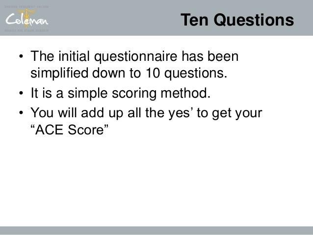 The ace study questionnaire
