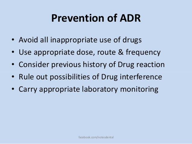 prevention of adverse drug reactions pdf