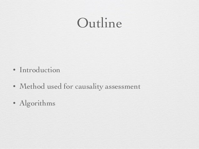 Adverse drug reaction causality assessment Slide 2
