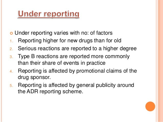 Adverse drug reaction monitoring and reporting