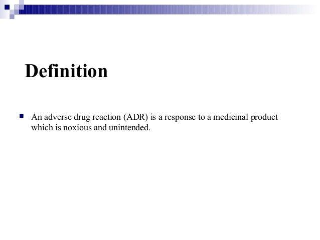 Adverse drug reactions Slide 3