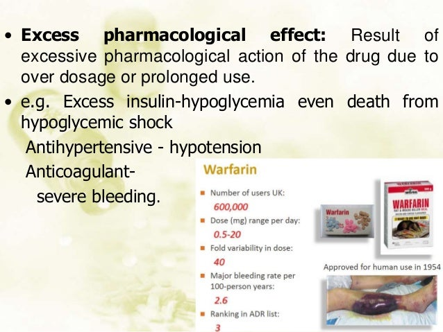 Unpredictable toxic effects Dose independent Less than therapeutic dose may lead to toxic effect