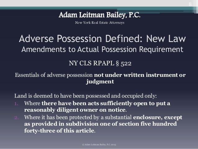Who Can Claim Property Based on Adverse Possession in Texas?