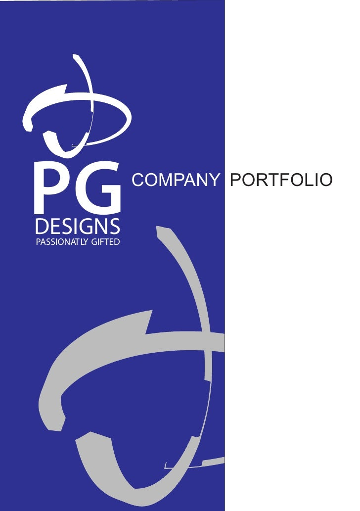 PG DESIGNS PASSIONATLY GIFTED                      COMPANY PORTFOLIO
