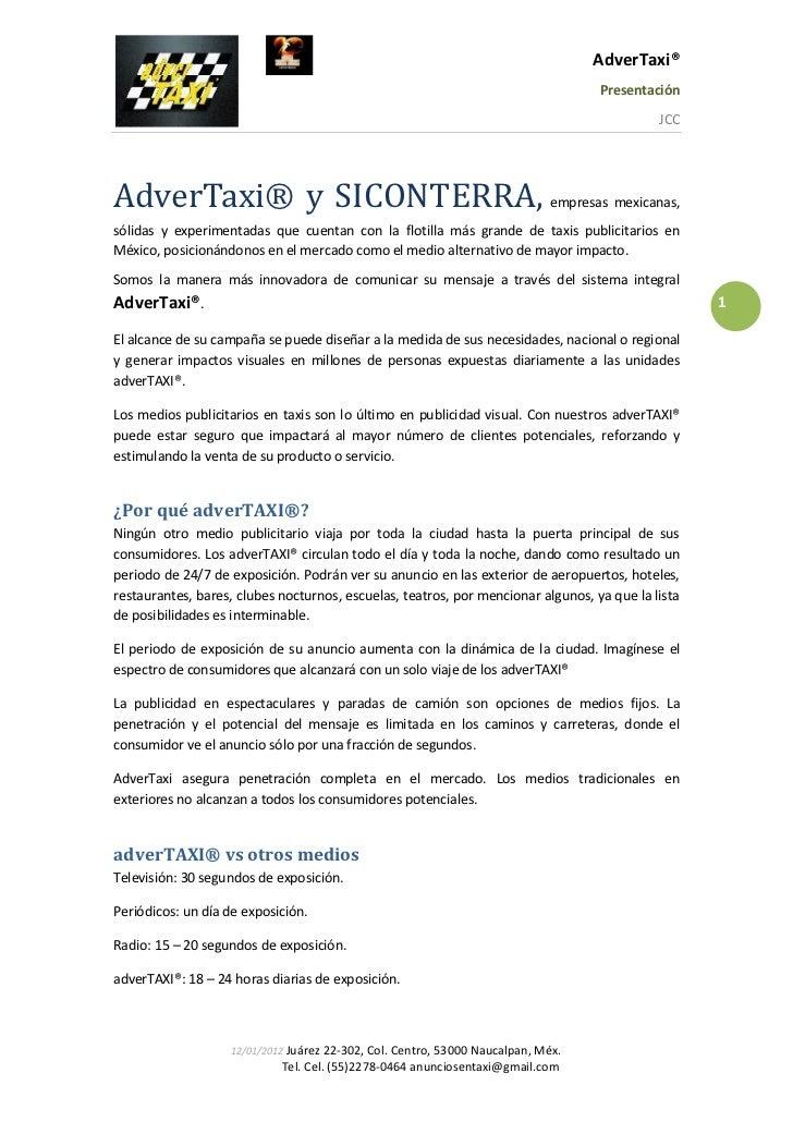 AdverTaxi®                                                                                   Presentación                 ...