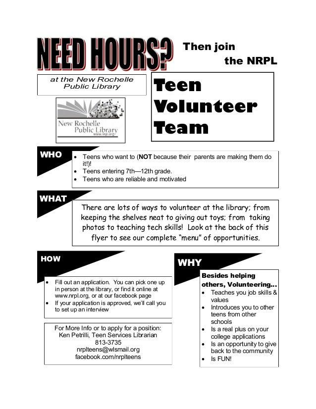 Volunteer advertisement flyer