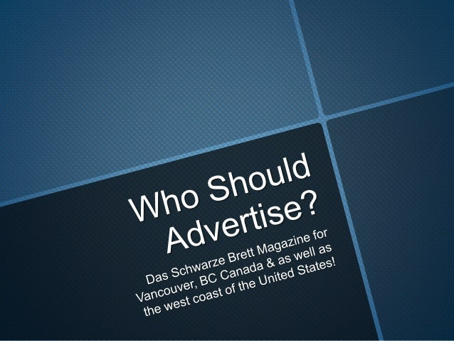 Who should advertise in my magazine for the German Community?