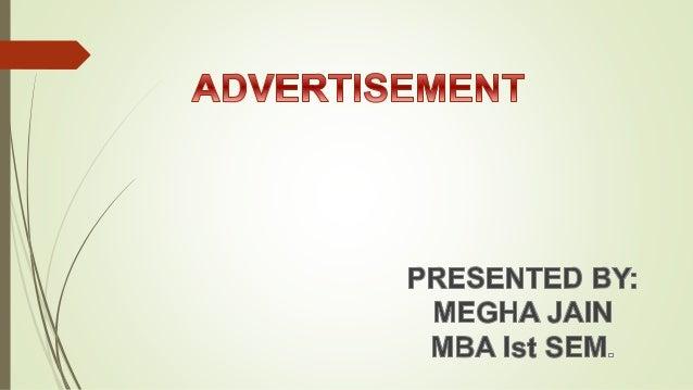 Advertisement Presentation