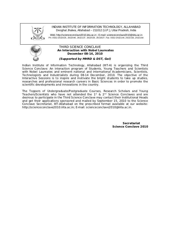 INDIAN INSTITUTE OF INFORMATION TECHNOLOGY, ALLAHABAD                        Deoghat Jhalwa, Allahabad – 211012 (U.P.), Ut...