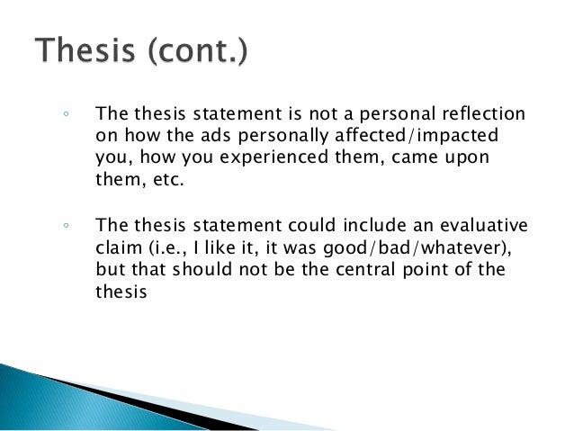 advertisement thesis statement