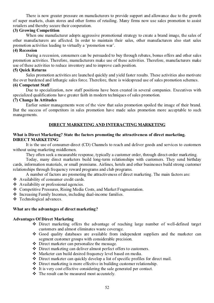 Advertisement notes