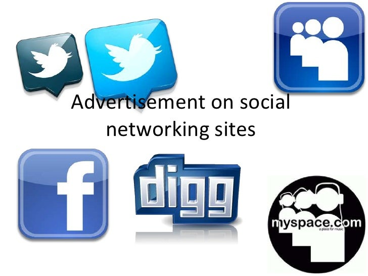 Advertisement on social   networking sites