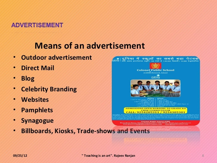 advertisement pamphlets