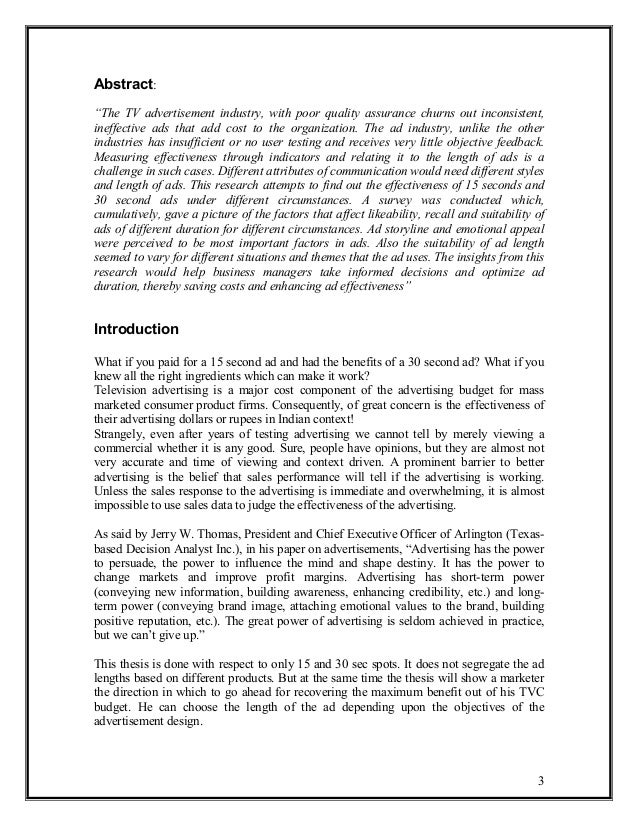 effects of advertisement on childrens essay