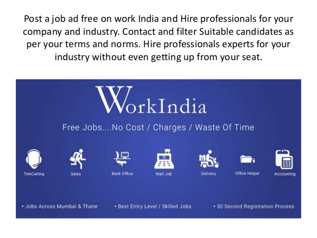 Advertise or post jobs online for free in mumbai | Hiring Staff