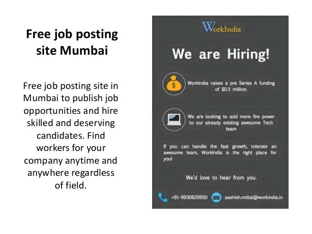 advertise or post jobs online for free in mumbai