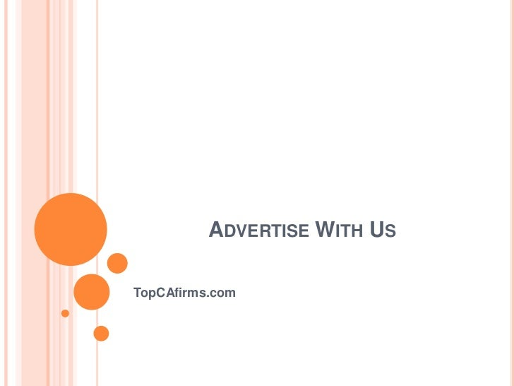 ADVERTISE WITH USTopCAfirms.com