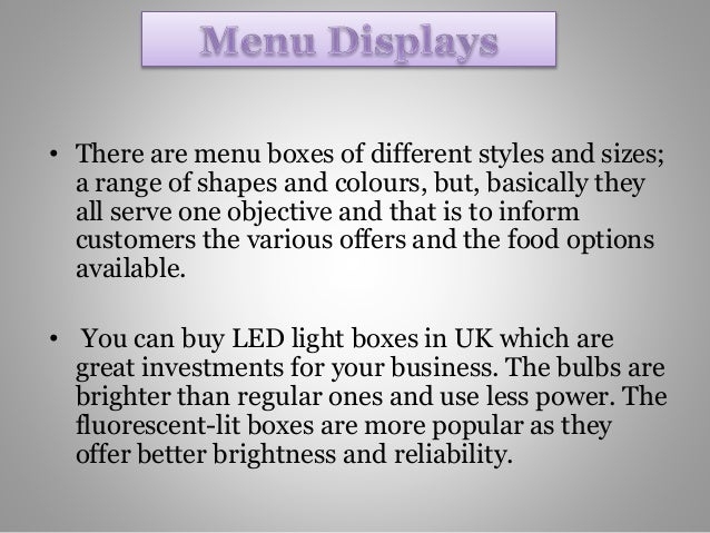 Advertise Your Products Effectively With Custom Made Led Light Boxes …