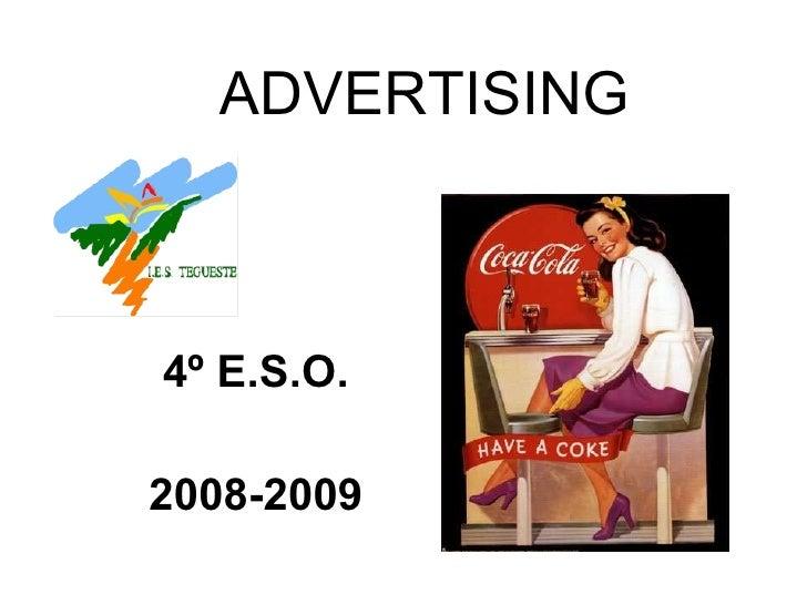 ADVERTISING 4º E.S.O. 2008-2009