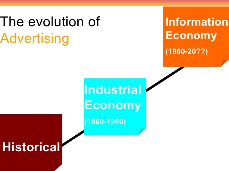 the evolution of advertising essay Until the mid of the 20th century, the evolution of the marketing concept has experienced mainly three periods, named as production orientation.