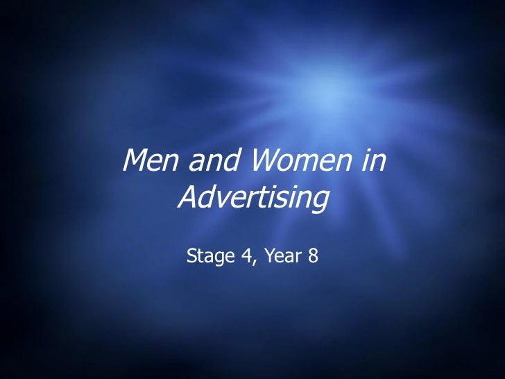 Men and Women in Advertising Stage 4, Year 8