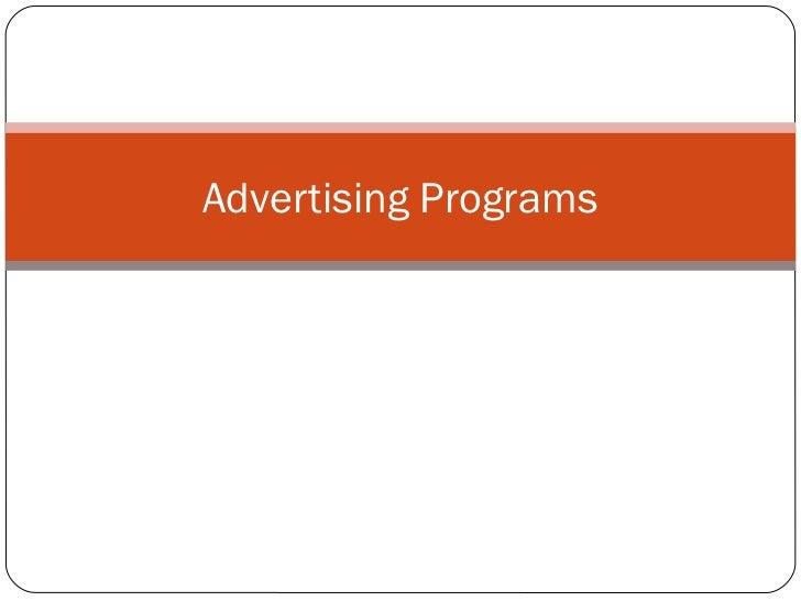 Advertising Programs      Chapter 10
