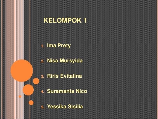 KELOMPOK 11.   Ima Prety2.   Nisa Mursyida3.   Riris Evitalina4.   Suramanta Nico5.   Yessika Sisilia
