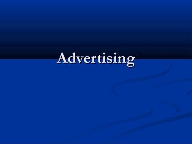 AdvertisingAdvertising