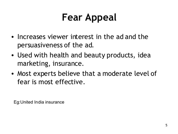 fear appeal in advertising Blog the four-letter word the reason fear appeals are used in advertising is simple fear appeals.