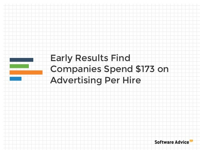 Early Results Find Companies Spend $173 on Advertising Per Hire