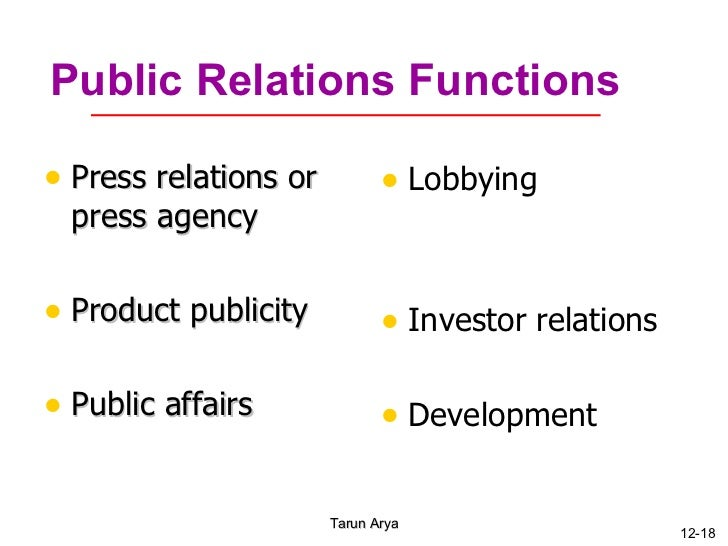 Advertising Sales Promotion Public Relations