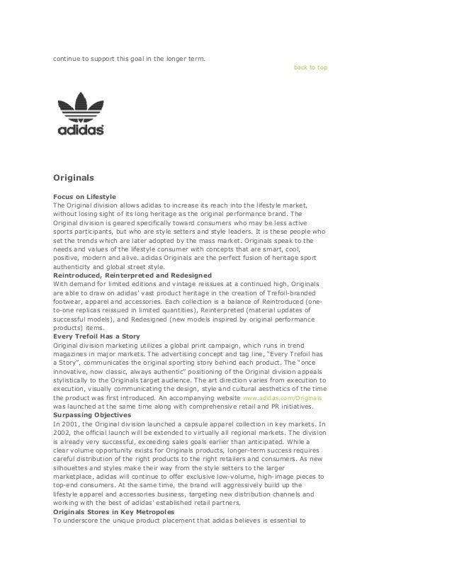 adidas: Three Divisional Media Strategy