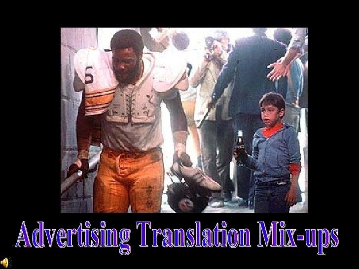 Advertising Translation Mix-ups