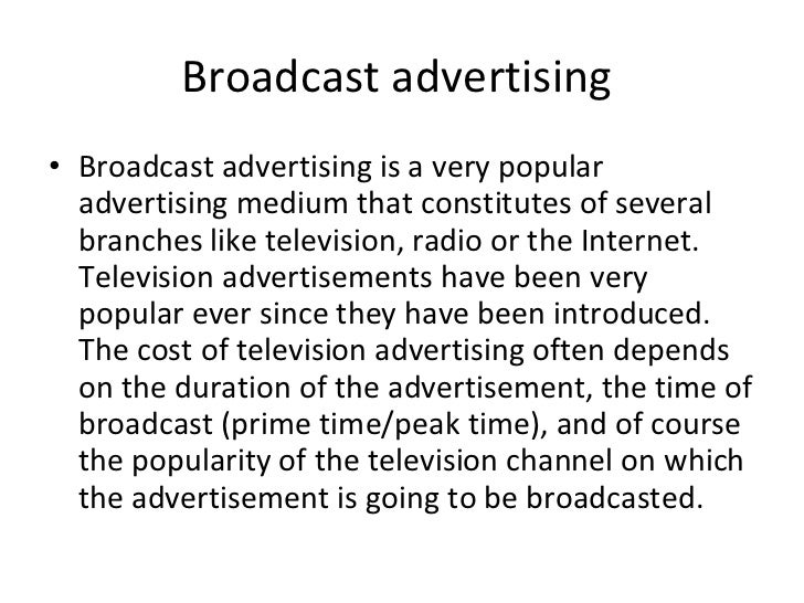 types of advertisement  24 broadcast advertising