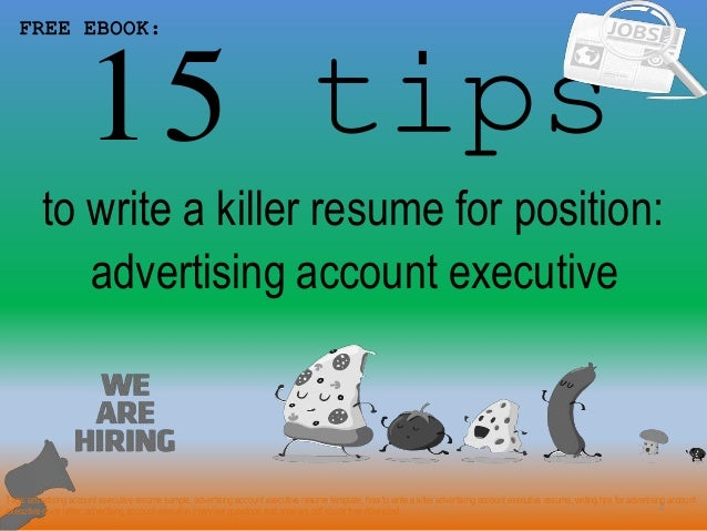 Advertising Account Executive Resume Sample Pdf Ebook