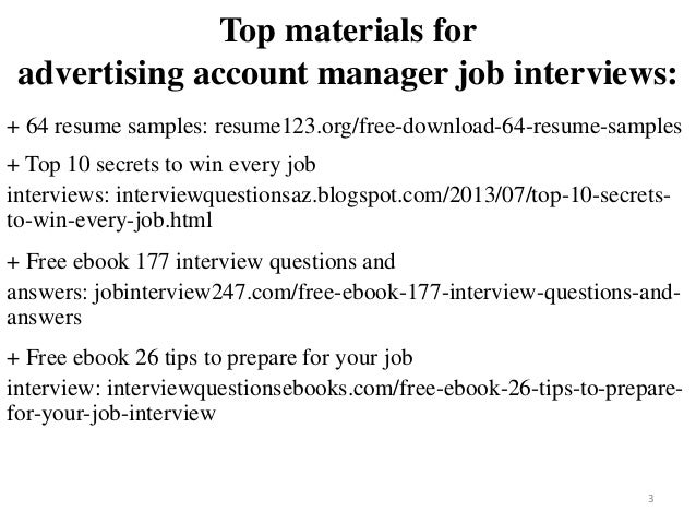 Advertising Account Manager Resume Sample Pdf Ebook