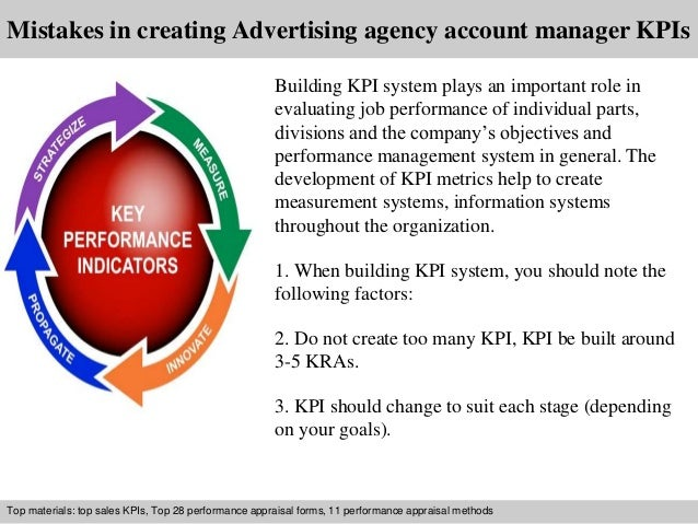 advertising agency account manager kpi
